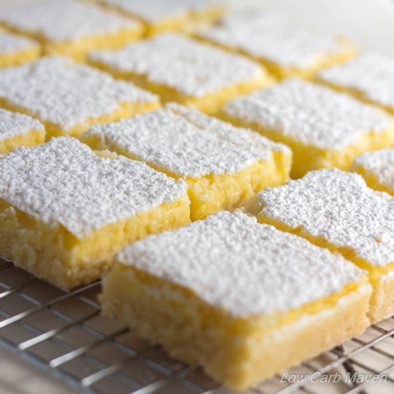 Low Carb Lemon Bars Sugar Free