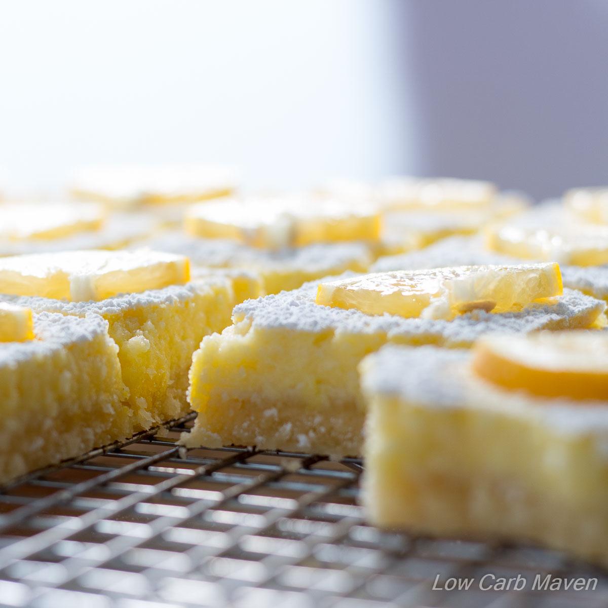 Low Carb Lemon Bars (sugar free)