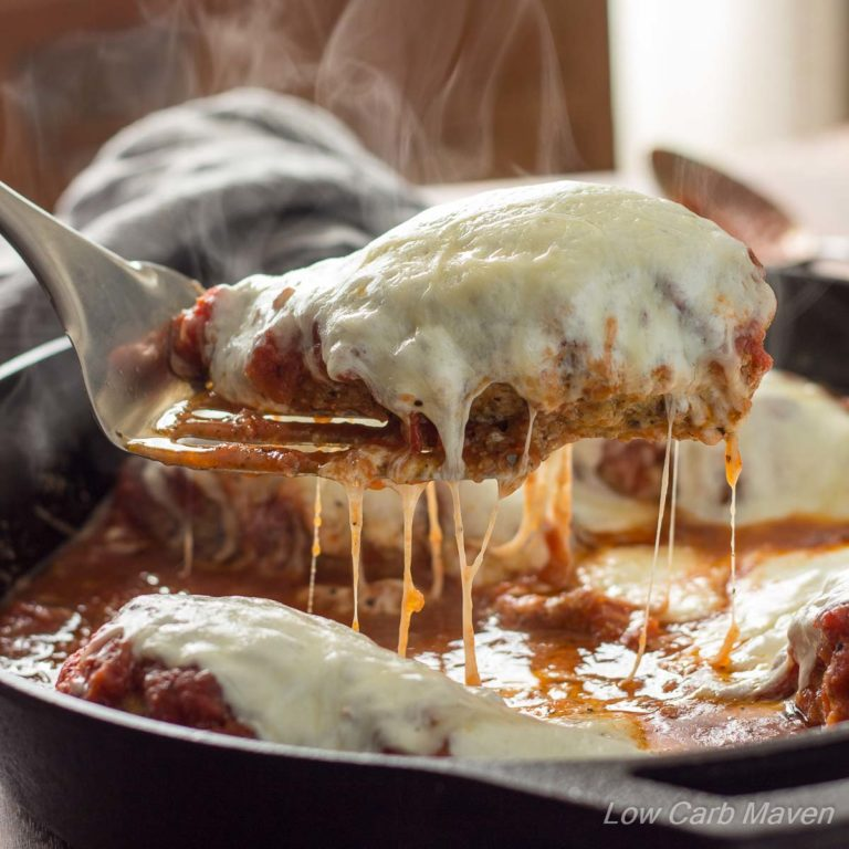 Low Carb Chicken Parmesan In A Skillet Low Carb Maven