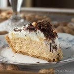 This luscious Low Carb Peanut Butter Pie is completely made from scratch with wholesome ingredients   Lowcarbmaven.com