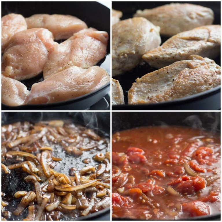 Easy Mediterranian Chicken with Tomatoes & Artichokes is a one skillet dish ready in 30 minutes | low carb, gluten-free, dairy-free, paleo, keto, thm