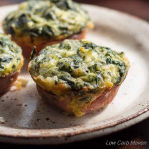 Spinach Feta Quiche Muffins