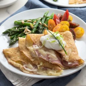 Ham and Swiss Crepes