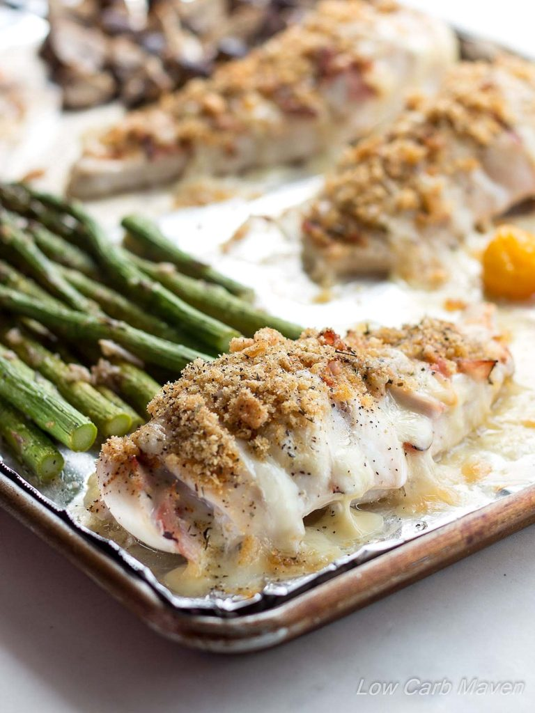 Ham & Smoked Mozzarella Hasselback Chicken Sheet Pan Dinner
