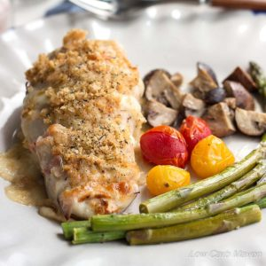 Ham & Smoked Mozzarella Hasselback Chicken