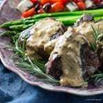 Pan seared lamb chops with a rich mustard cream pan sauce is the perfect low carb meal.