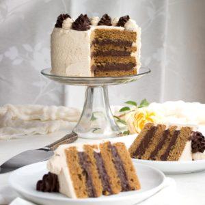 """Peanut Butter"" & Chocolate Holymoly Cake"