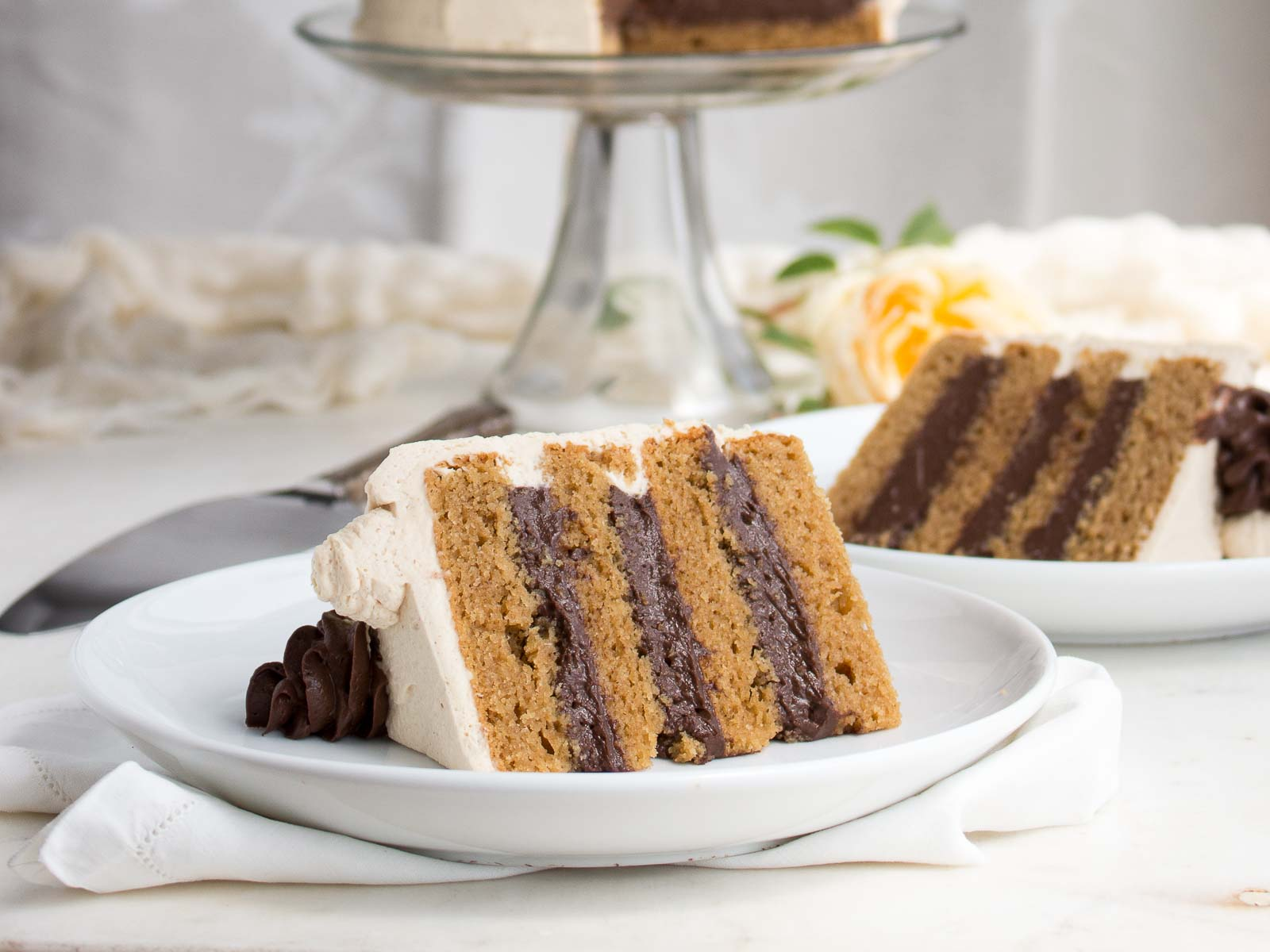 "Holymoly cake! This super moist ""peanut butter"" cake, filled with rich chocolate pastry cream & frosted with peanut butter whipped cream will have you shouting ""Holymoly!"" 