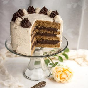 This Super Moist Peanut Butter Cake Filled With Rich Chocolate Pastry Cream