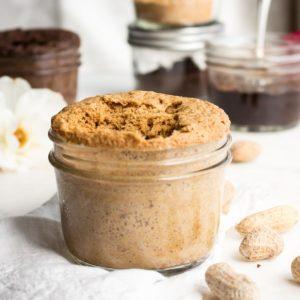 Flourless Peanut Butter Mug Cakes