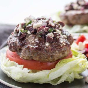 Low Carb Greek Lamb Burgers (Keto)