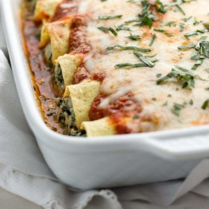 Low Carb Spinach Manicotti