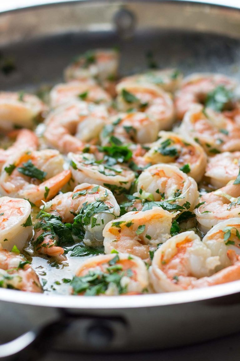 Shrimp scampi with Finlandia butter, garlic, lemon and parsley.