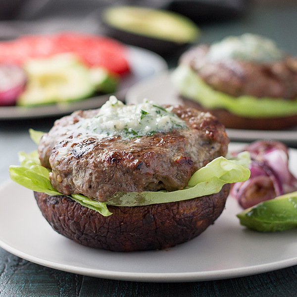 Low Carb Blue Cheese Burgers (Keto Buns)