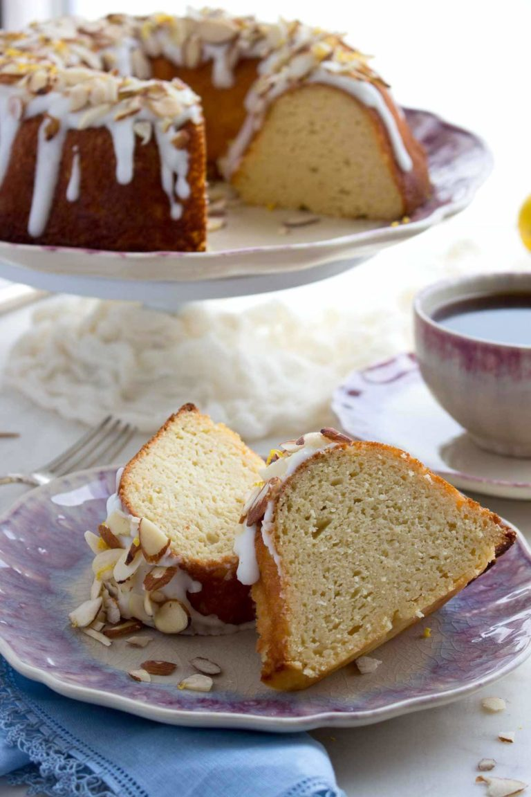 Low Sugar Lemon Bundt Cake