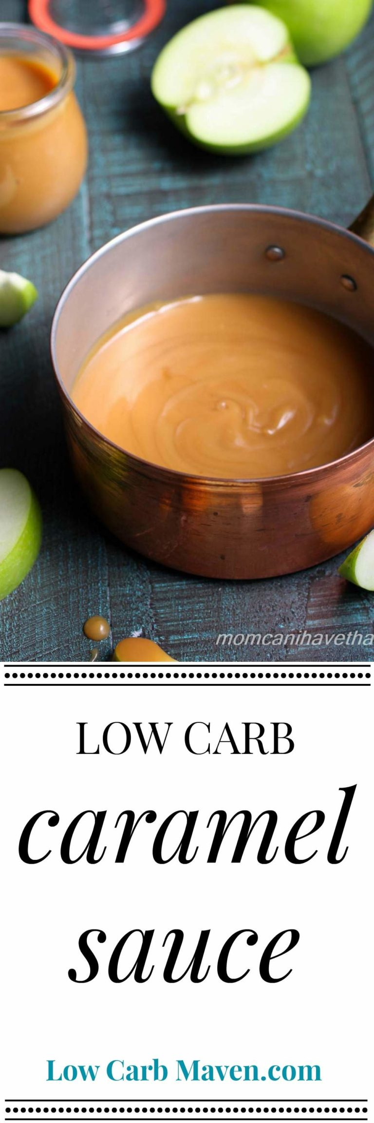 Homemade low carb caramel sauce is sugar free