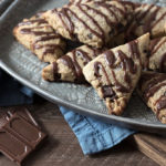 Low Carb Chocolate Chip Scones remind me of a Starbucks favorite! Low Carb, Keto, Gluten-free, Sugar-free, THM