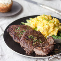 Steak and eggs makes a great fast & easy low carb breakfast!