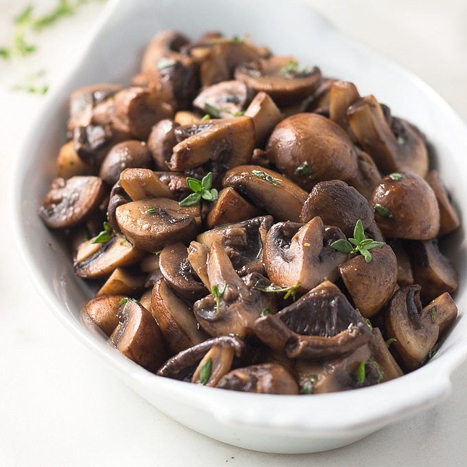 low carb sauteed mushrooms in butter and thyme low carb maven