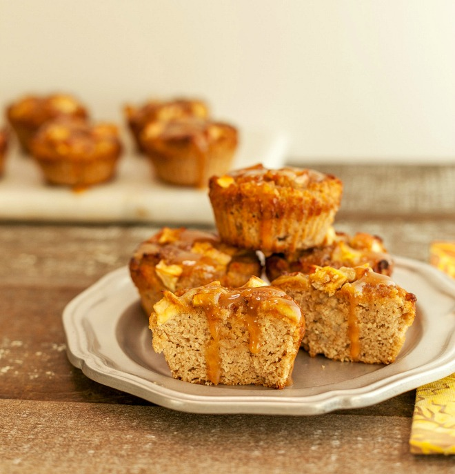 Caramel Apple Muffins - Beauty and the Foodie
