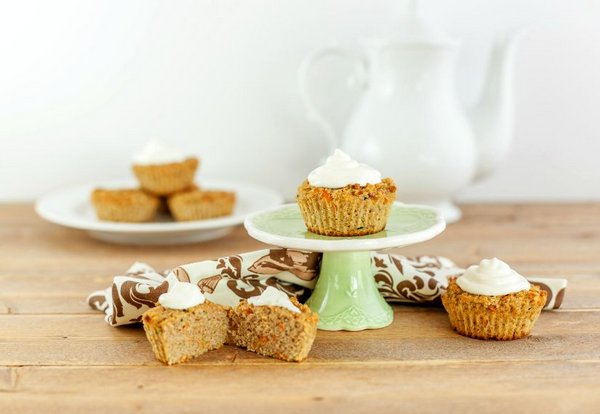 Carrot Cake Zucchini Muffins - Beauty and the Foodie
