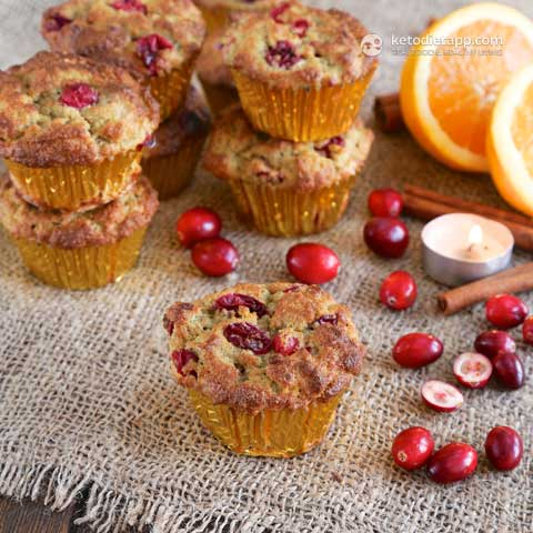 Cranberry Orange Muffins - Keto Diet Ap