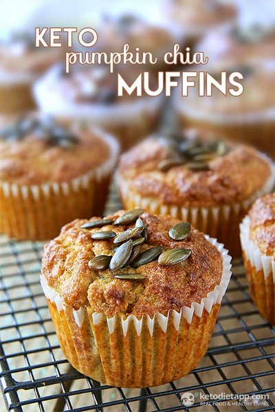 Pumpkin Chia Muffins - Keto Diet Ap
