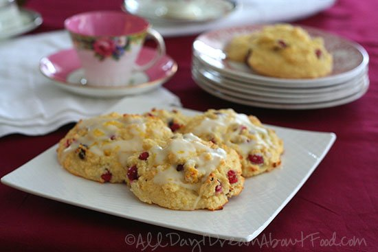Cranberry Orange Drop Scones - All Day I Dream About Food