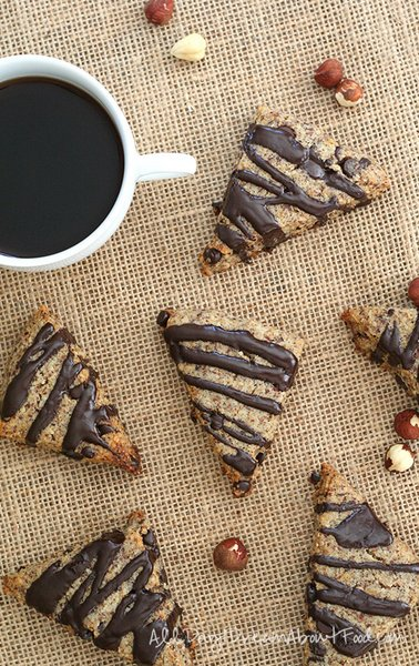 Hazelnut Chocolate Chip Scones - All Day I Dream About Food