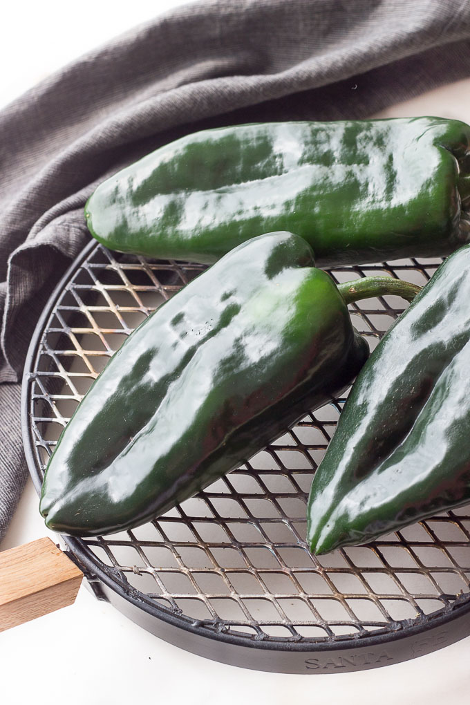 Poblano Peppers for roasting