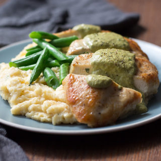 Chicken with Poblano Peppers and Cream