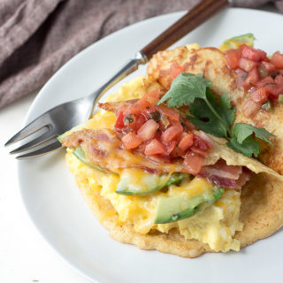 This low carb bacon and egg breakfast wrap is easy to make and satisfying. Keto, gluten-free, grain-free