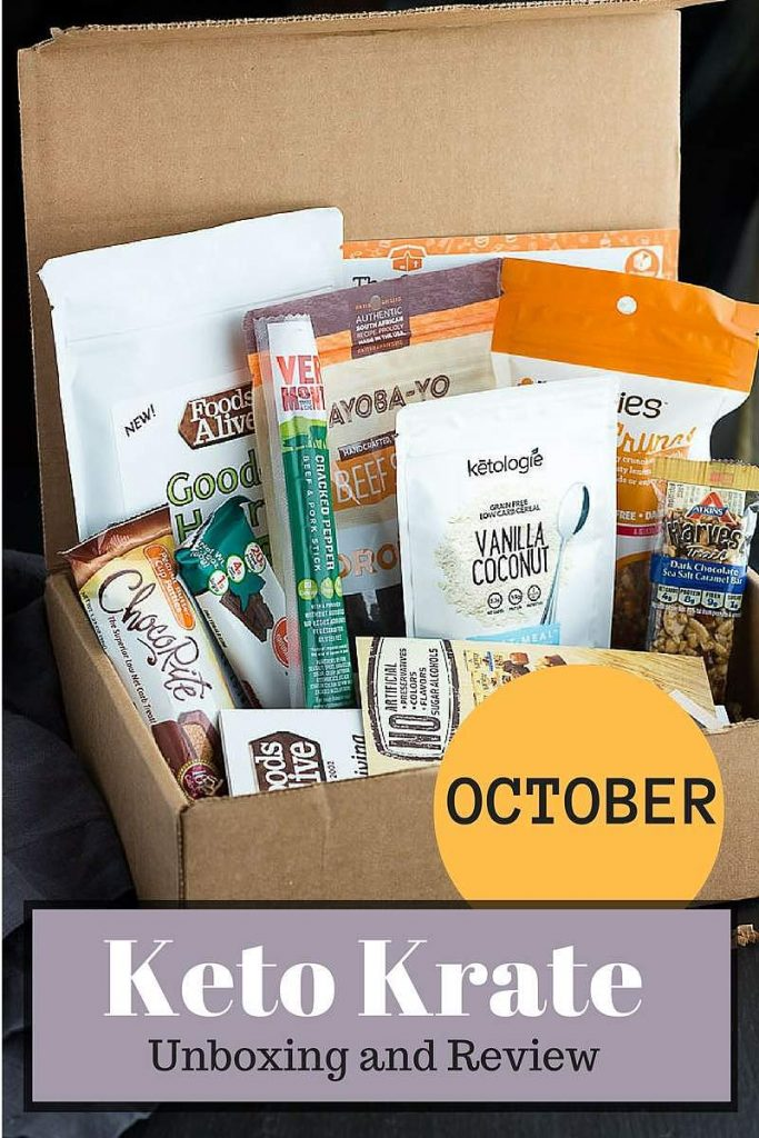 Struggle with finding appropriate low carb snacks for your keto diet? Keto Krate delivers great new products to your door! October 2016 review.