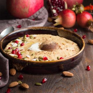 Low Carb Pumpkin Spice Porridge is a great keto breakfast cereal. Grain-free, sugar-free, gluten-free.