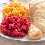 Fresh low carb cranberry sauce or relish with orange. Great