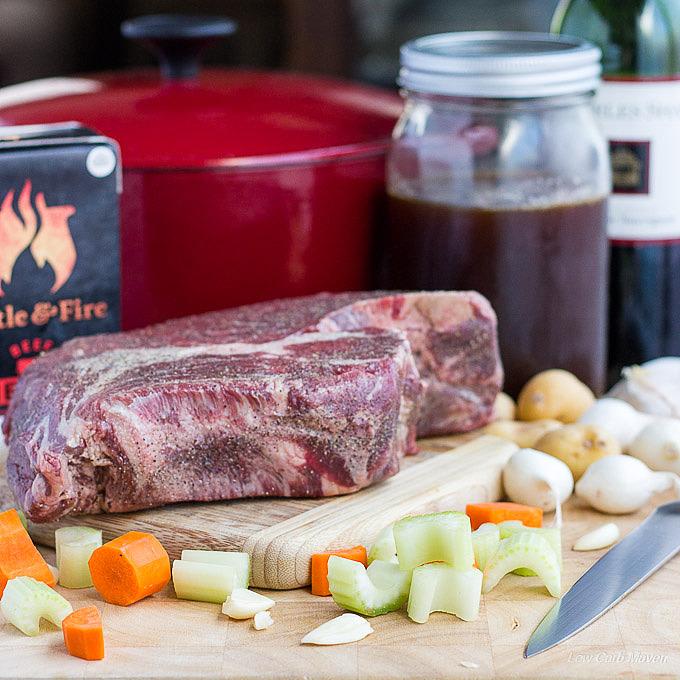 Low carb pot roast ingredients.