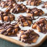 A low carb turtle recipe using low carb caramel, almonds & sugar free chocolate for delicious keto candy that's diabetic friendly.