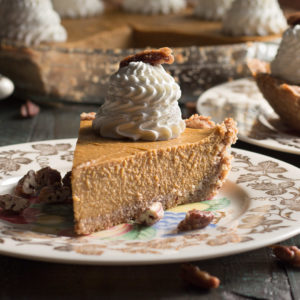 Stovetop No Bake Low Carb Pumpkin Pie