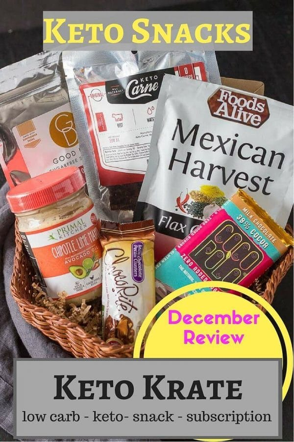 Enjoy quality keto snacks and healthy low carb snacks from Keto Krate monthly subscription.