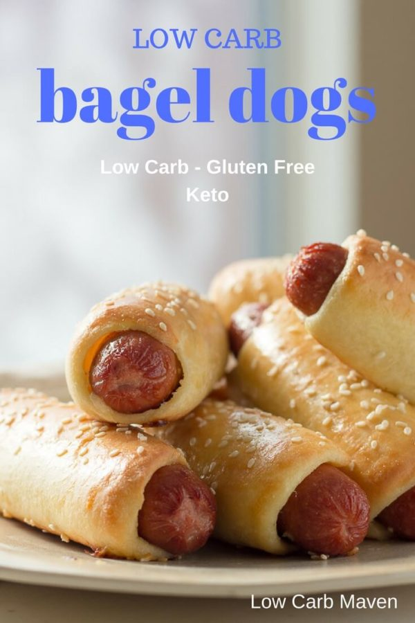 Low Carb Bagel Dogs - a great low carb and keto snack or lunch