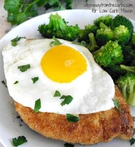 Low Carb Chicken Schnitzel - a fast and easy keto dinner that's gluten-free!
