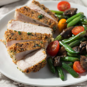 Parmesan Crusted Pork Chops are gluten free and perfect as a low carb entry. Keto.