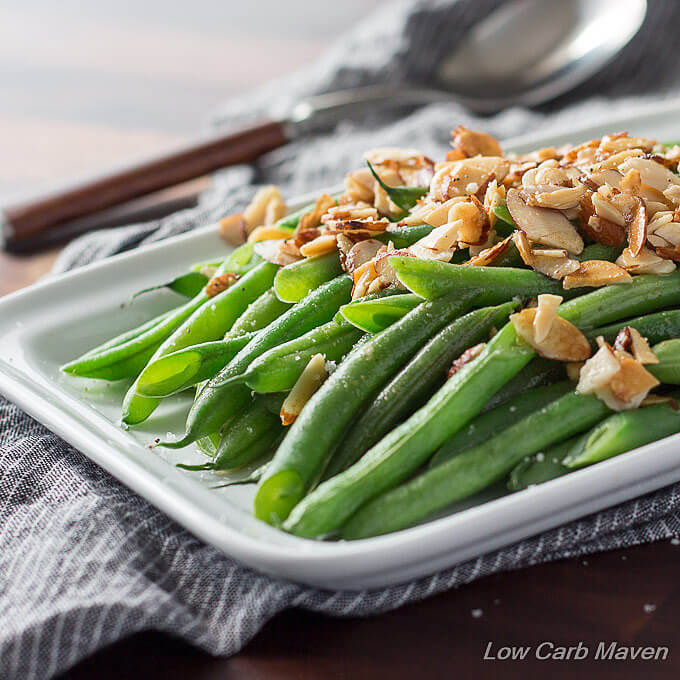 Easy Green Beans Almondine (low carb, keto) | Low Carb Maven