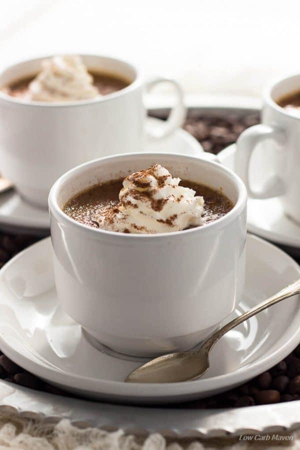Sugar Free Coffee Creme Brulee is a silky, creamy low carb dessert. keto