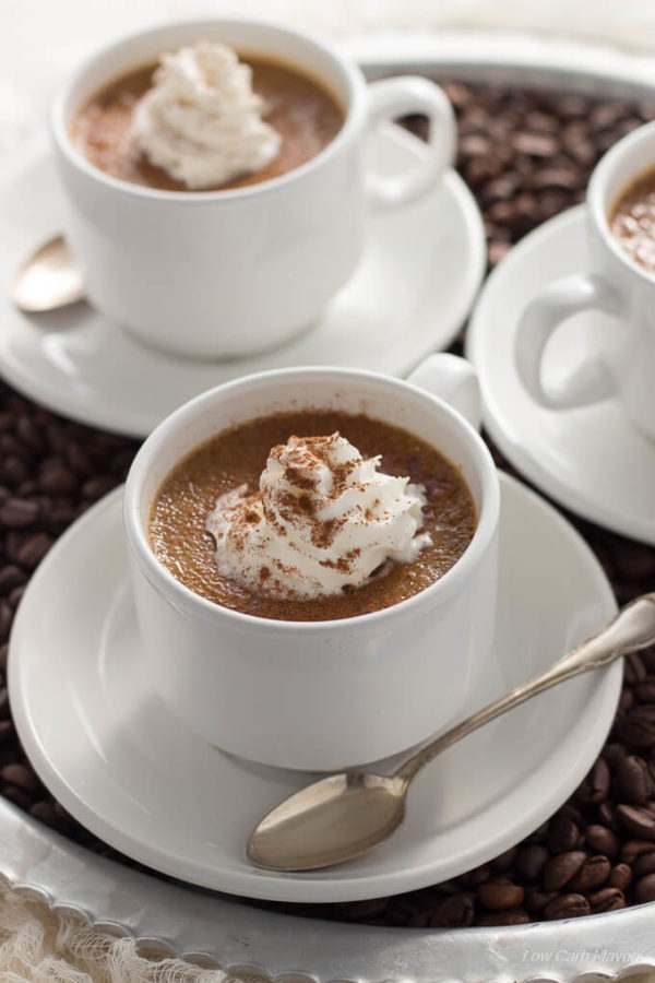 Sugar Free Coffee Creme Brulee is a silky, creamy low carb dessert ...