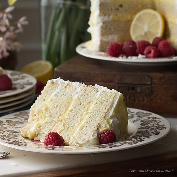 Low Carb Coconut Lemon Curd Cake
