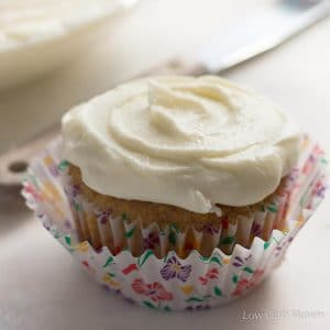 Low Carb Sugar Free Cream Cheese Frosting is easy, silky and ketogenic.