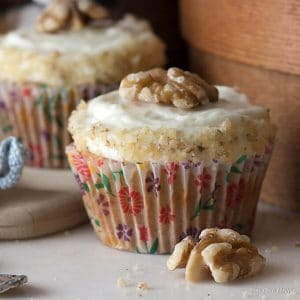 Low Carb Sugar Free Carrot Cake Cupcakes Recipe