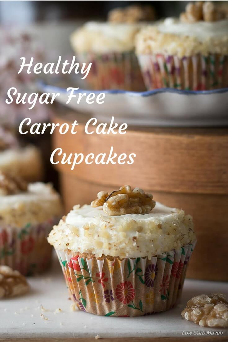 These carrot cake cupcakes are the best sugar free and low carb cupcakes. Great for keto.