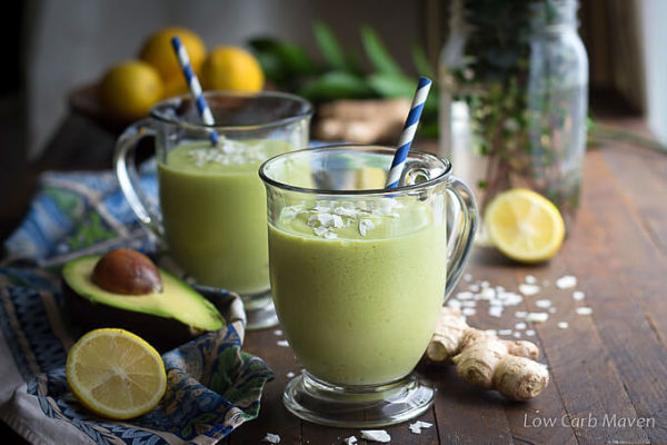 Keto Avocado Smoothie With Coconut Milk Ginger And Turmeric
